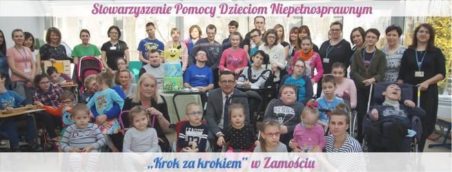 """Stowarzyszenie Pomocy Dzieciom Niepełnosprawnym """"Krok za krokiem"""" w Zamościu  powstało w 1990 roku z inicjatywy rodziców b6f00afd56"""