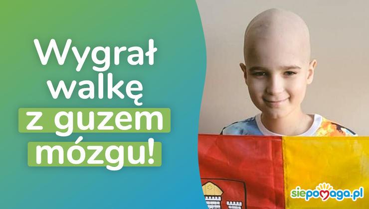 10-latek zakończył terapię onkologiczną w USA i wygrał walkę z guzem mózgu